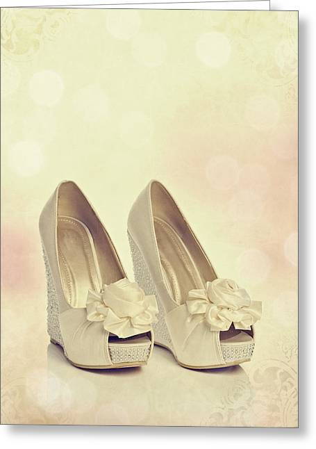 Wedding Photo Greeting Cards - Wedding Shoes Greeting Card by Amanda And Christopher Elwell