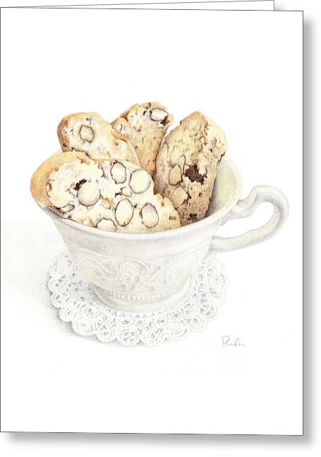 Biscotti Greeting Cards - Wedgwood Biscotti Greeting Card by Paula Pertile