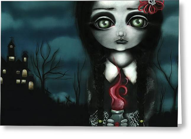 Surreal Pop. Abril Greeting Cards - Wednesday  Greeting Card by  Abril Andrade Griffith
