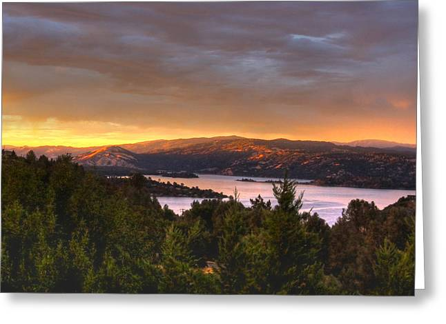 California Art Greeting Cards - Wednesday Evening Sunset Greeting Card by Kandy Hurley