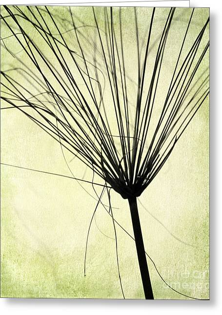 Weedy Greeting Cards - Weed in Green Greeting Card by Sabrina L Ryan