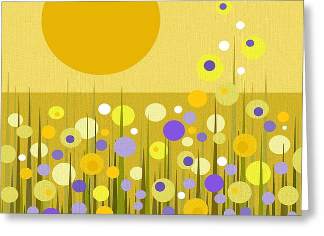 Weeds Greeting Card by Val Arie