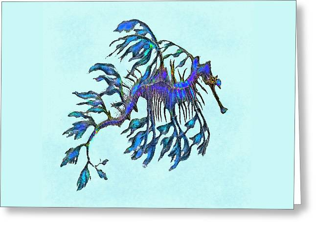 Seadragon Greeting Cards - Weedy Seadragon Greeting Card by Jane Schnetlage