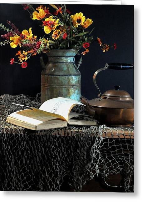 Still Life With Pitcher Photographs Greeting Cards - Week Days Greeting Card by Diana Angstadt