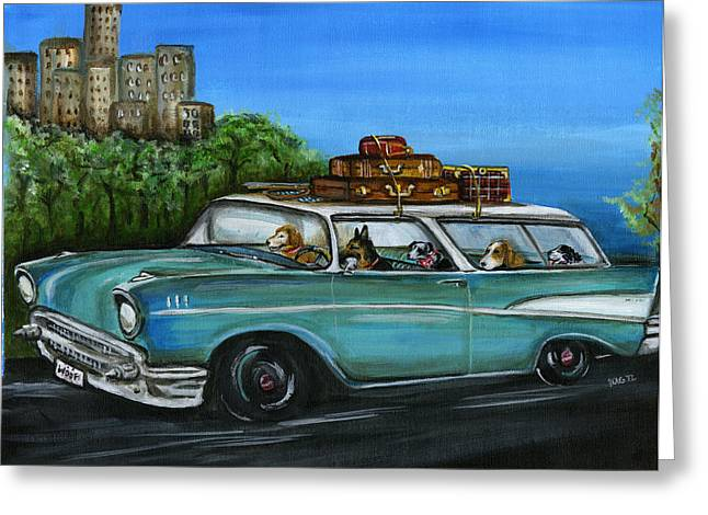 Weekend Getaway Greeting Card by Kim Arre-gerber