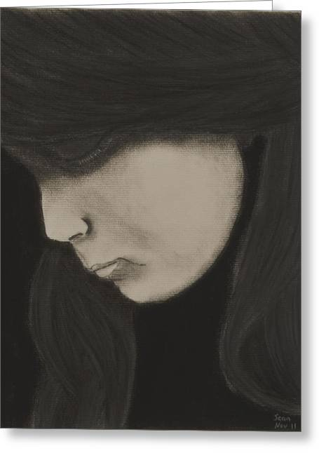 Tears Pastels Greeting Cards - Weeper Greeting Card by Sean Mitchell