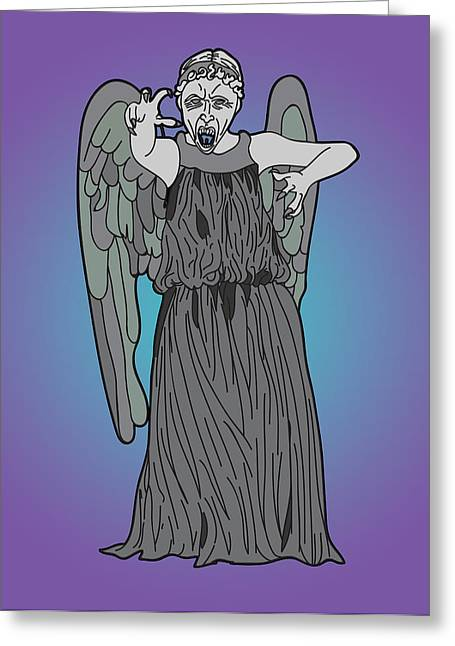 Weeping Digital Art Greeting Cards - Weeping Angel Greeting Card by Jera Sky