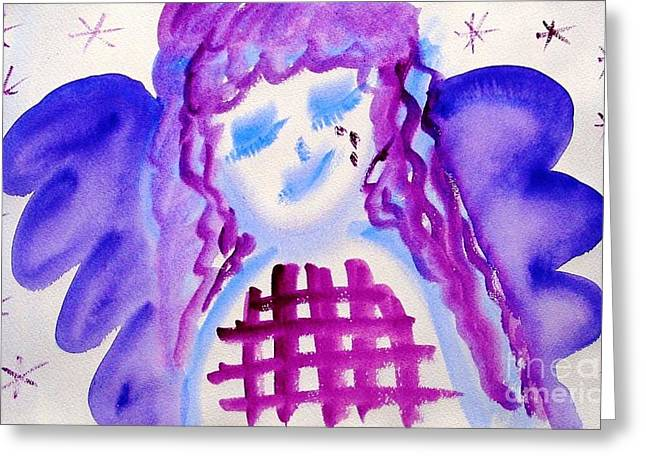 Jutta Gabriel Greeting Cards - ...weeping Angel... Greeting Card by Jutta Gabriel