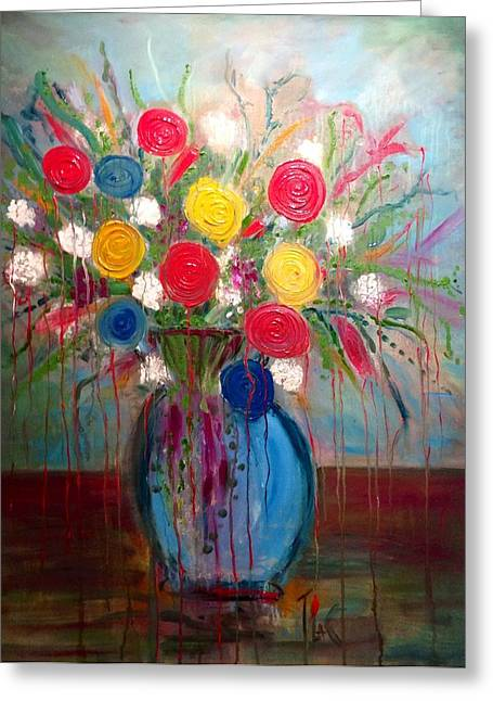 Cuts Pyrography Greeting Cards - Weeping Bouquet Greeting Card by Trisha  La Comber