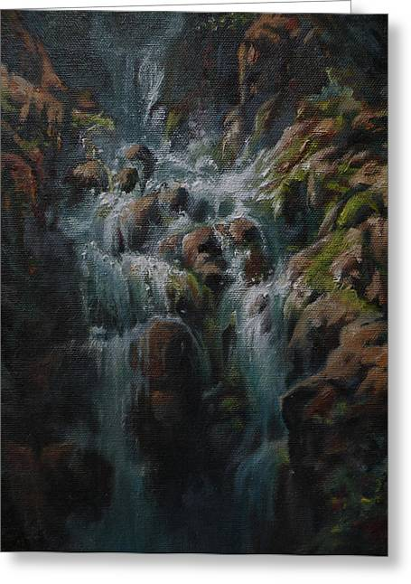 Art Of Mia Delode Greeting Cards - Weeping Rocks Greeting Card by Mia DeLode