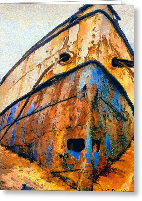 Weeping Drawings Greeting Cards - Weeping ship Greeting Card by George Rossidis
