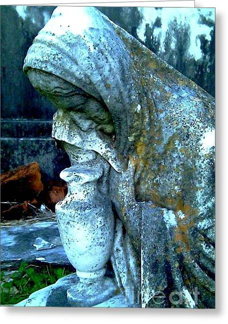 Tears Greeting Cards - Weeping Stone Greeting Card by Michael Hoard