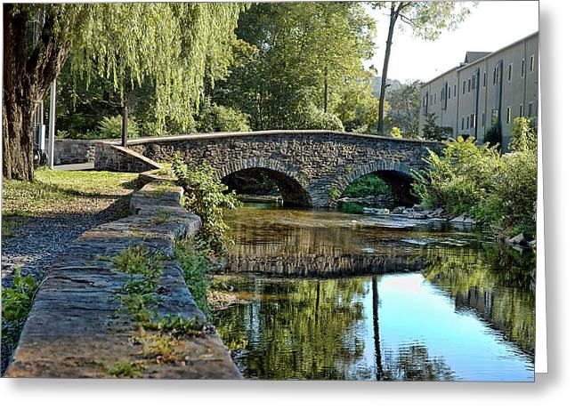 Quaker Town Greeting Cards - Weeping Willow Bridge Greeting Card by Robert Culver