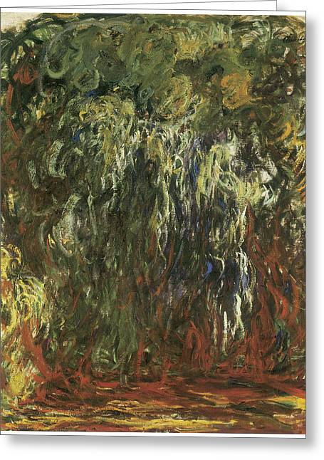 Weeping Greeting Cards - Weeping Willow Giverny Greeting Card by Claude Monet
