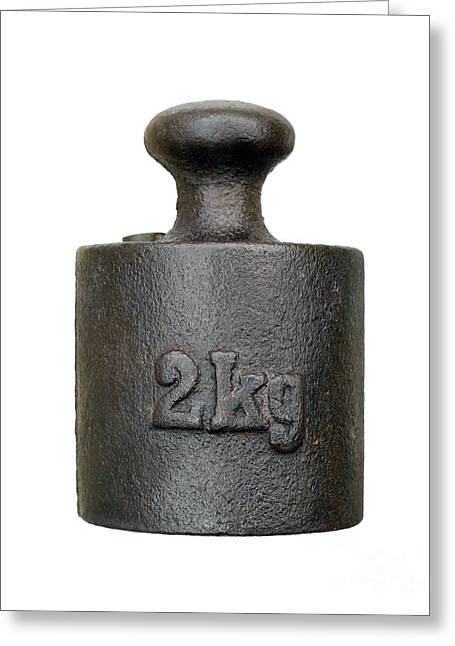 Old Objects Greeting Cards - Weight - Two Kilograms Greeting Card by Michal Boubin