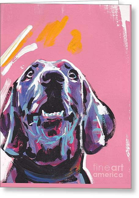 Lea Greeting Cards - Weim Me Up Greeting Card by Lea