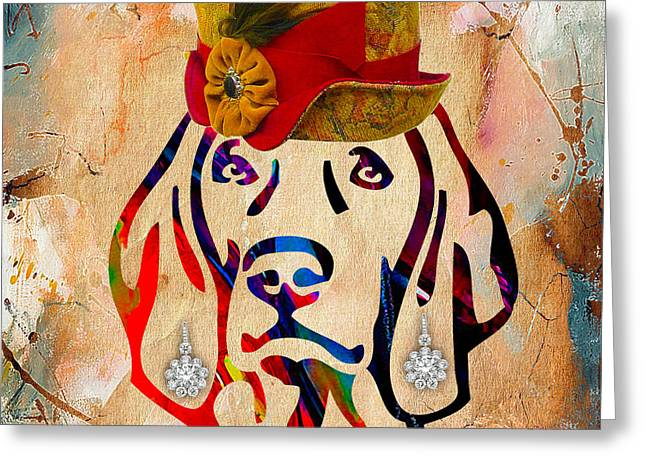 Weimaraner Greeting Cards - Weimaraner Collection Greeting Card by Marvin Blaine
