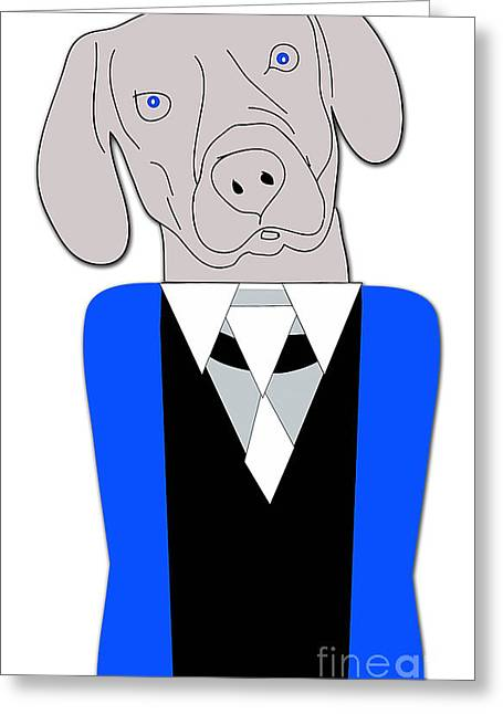 Weimaraner Greeting Cards - Weimaraner Painting Greeting Card by Marvin Blaine