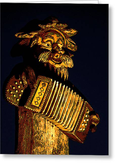 Wooden Sculpture Digital Art Greeting Cards - Weinnachtsmarkts Figure Greeting Card by Colin Hunt