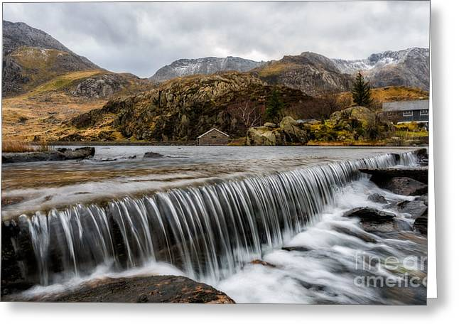 Weired Greeting Cards - Weir At Ogwen Greeting Card by Adrian Evans