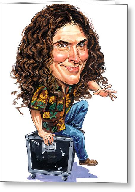 Famous Person Greeting Cards - Weird Al Yankovic Greeting Card by Art