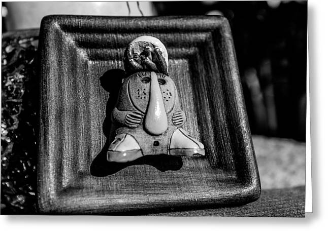 Wooden Sculpture Greeting Cards - Weird lady... Greeting Card by Tgchan