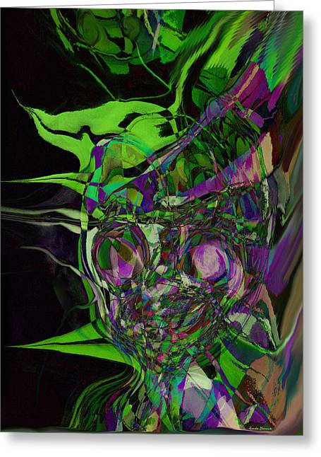 Abstract Expression Greeting Cards - Weirdness Greeting Card by Linda Sannuti