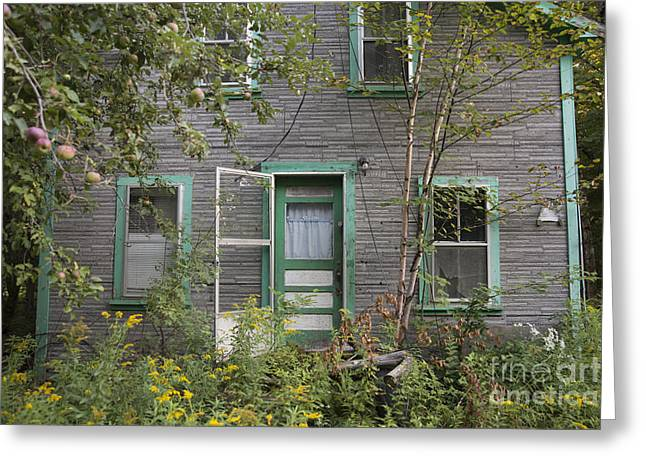 Old Maine Houses Greeting Cards - Welcome Greeting Card by Alana Ranney