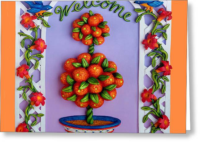 Welcome Greeting Card by Amy Vangsgard