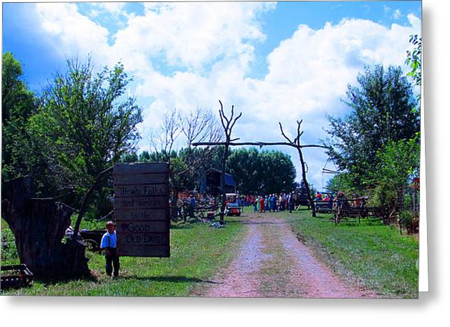Amish Community Greeting Cards - Welcome and Enjoy Greeting Card by Tina M Wenger