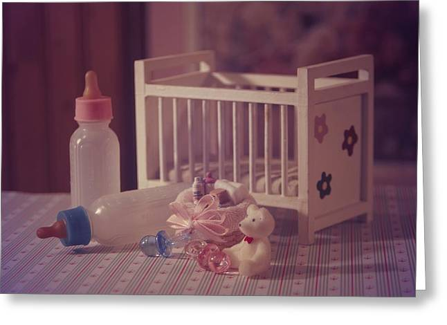 Bottled Pyrography Greeting Cards - Welcome Baby 3 Greeting Card by JP Design