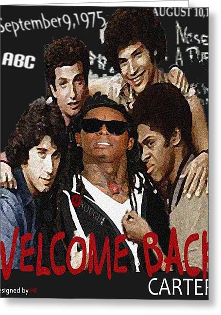 Miami Heat Mixed Media Greeting Cards - Welcome Back Carter Greeting Card by Hi