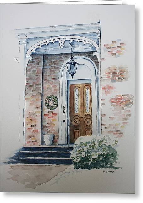 Patsy Sharpe Greeting Cards - Welcome Christmas Greeting Card by Patsy Sharpe