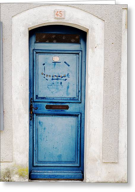 French Door Greeting Cards - Welcome Door Greeting Card by Nomad Art And  Design