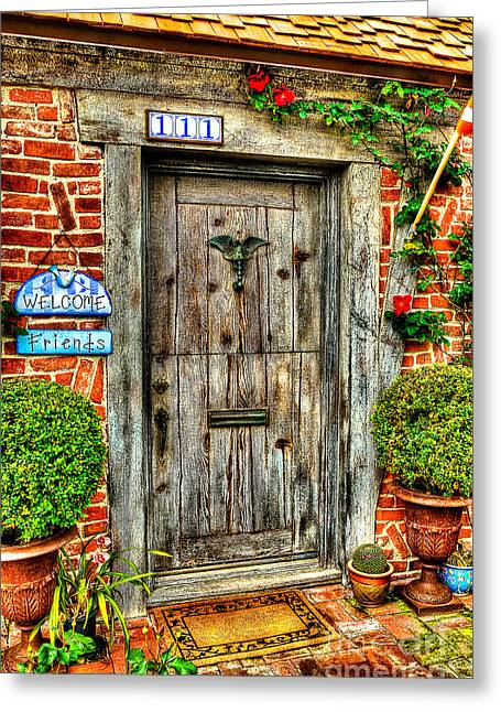 Entry-way Greeting Cards - Welcome Friends Greeting Card by Jim Carrell