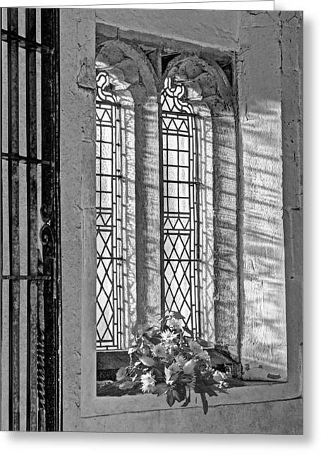 Window Decor Greeting Cards - Welcome Greeting Card by Gill Billington