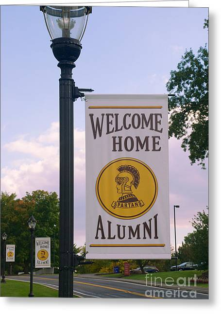 Mhs Greeting Cards - Welcome Home Banner Greeting Card by Mark Dodd