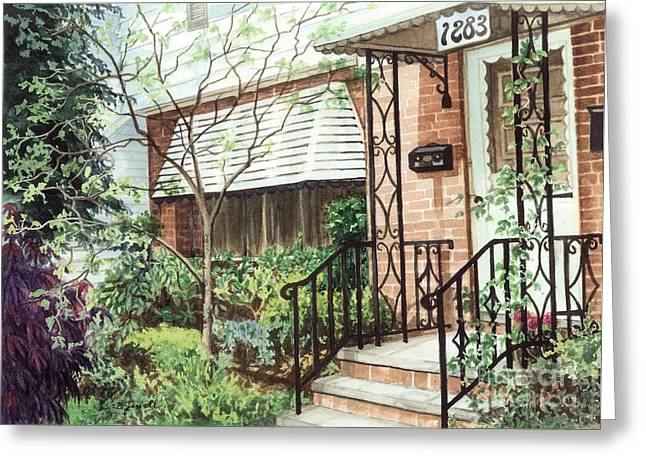 Front Yard Greeting Cards - Welcome Home Greeting Card by Barbara Jewell