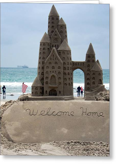 Sand Castles Greeting Cards - Welcome Home Greeting Card by Mary Lee Dereske