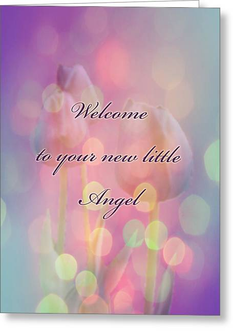 Mother Nature Greeting Cards - Welcome New Baby Greeting Card - Tulips Greeting Card by Mother Nature