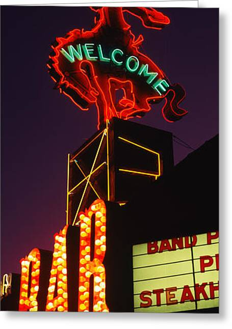 Welcome Signs Greeting Cards - Welcome Sign Of A Bar, Million Dollar Greeting Card by Panoramic Images