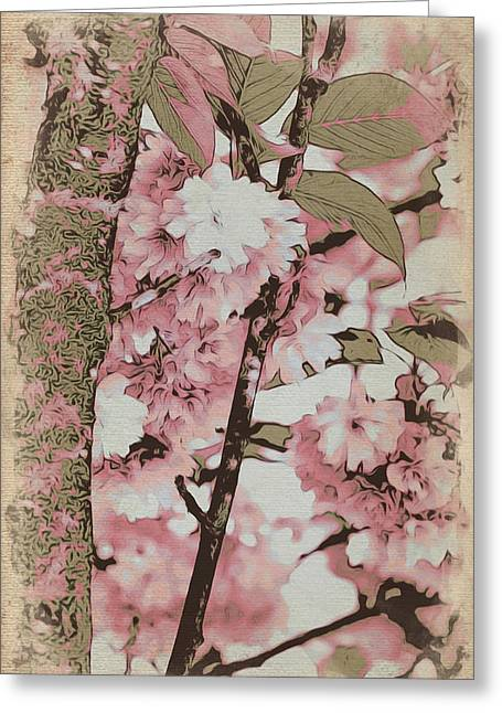 Flowering Branch Greeting Cards - Welcome Spring Greeting Card by Bonnie Bruno