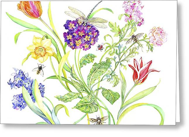 Flora And Fauna Greeting Cards - Welcome Spring I Greeting Card by Kimberly McSparran