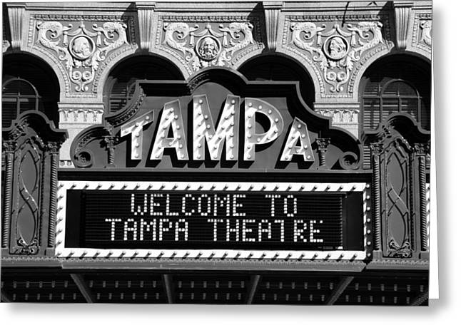 Movie Theatre Greeting Cards - Welcome Tampa Greeting Card by David Lee Thompson