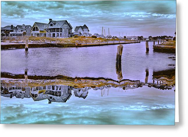 Cloudy Day Greeting Cards - Welcome to Bald Head Island II Greeting Card by Betsy C  Knapp