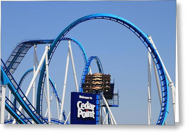 Welcome To Cedar Point Greeting Card by Dan Sproul
