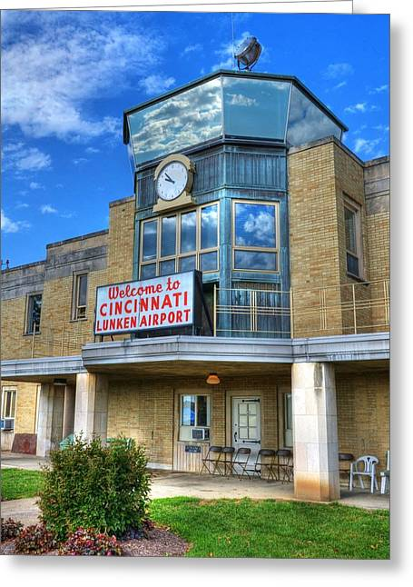 Control Towers Greeting Cards - Welcome To Cincinnati Greeting Card by Mel Steinhauer