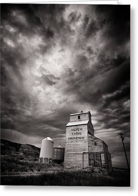 Canadian Prairie Landscape Greeting Cards - Welcome to Hell Greeting Card by Ian MacDonald