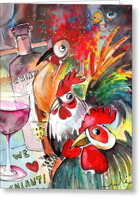 Italian Wine Greeting Cards - Welcome to Italy 08 Greeting Card by Miki De Goodaboom
