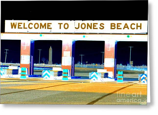 Sonny Corleone Greeting Cards - Welcome To Jones Beach Greeting Card by Ed Weidman